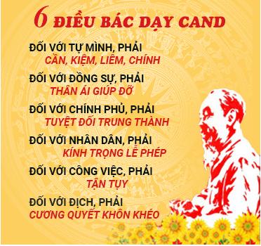 6 điều Bác Hồ dạy CAND