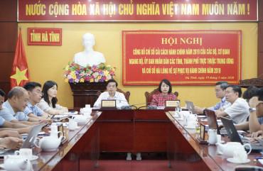 Hà Tĩnh đứng thứ 12/63 tỉnh thành về chỉ số Cải cách hành chính (PARINDEX) năm 2019