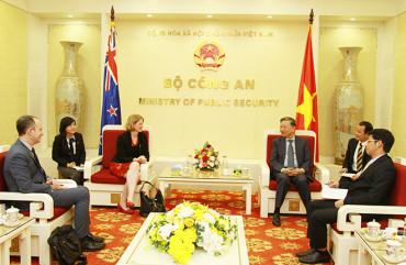 Thúc đẩy quan hệ hợp tác giữa Bộ Công an Việt Nam với các cơ quan thực thi pháp luật New Zealand