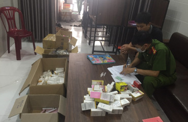 Công an thành phố Hà Tĩnh thu giữ số lượng lớn mỹ phẩm không rõ nguồn gốc, xuất xứ
