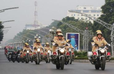 Cảnh sát giao thông toàn quốc mở cao điểm bảo đảm trật tự, an toàn giao thông Tết 2021