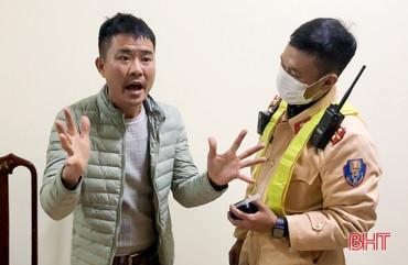 Tài xế thách thức công an Hà Tĩnh sau khi gây tai nạn bị phạt 46,5 triệu đồng