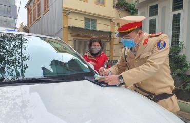 Kiên quyết xử lý phương tiện dừng, đỗ trái quy định trên địa bàn TP Hà Tĩnh