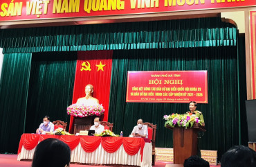TP Hà Tĩnh tổ chức tổng kết công tác bầu cử HĐND các cấp nhiệm kỳ 2021-2026