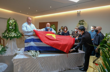 Tang lễ của Anh hùng Lực lượng vũ trang nhân dân Kostas Sarantidis Nguyễn Văn Lập