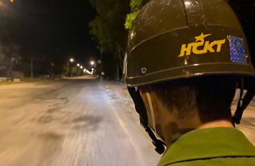 Đêm tuần tra của cán bộ chiến sỹ Công an TP Hà Tĩnh