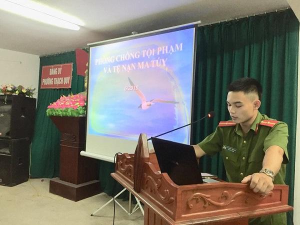 Thành đoàn Hà Tĩnh: Tuyên truyền pháp luật về ma túy, giao thông cho ĐVTN phường Thạch Quý